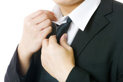 Business an adjust tie Stock Images