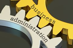 Business Administration concept on the gearwheels, 3D rendering Royalty Free Stock Photography