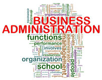 Business administration word tags Stock Images