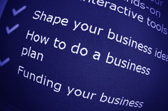 Business advice Stock Photography