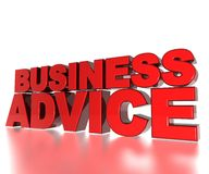 Business Advice. 3D Text Business Advice with reflections Royalty Free Stock Photography