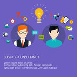 Business advice, coaching, training on business Royalty Free Stock Images
