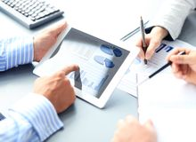 Free Business Adviser Analyzing Financial Figures Stock Photos - 40706883