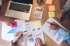 Business adviser analyzing financial with new startup finance pr stock image