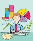 Business Advisor. Financial advisor at his computer Royalty Free Stock Photo