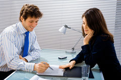 Business advisor works Stock Photos