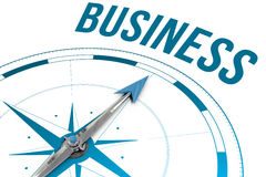Business against compass Stock Images