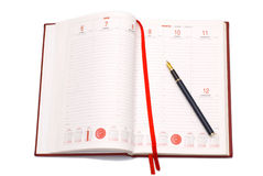 Business agenda. Opened business agenda with a pen Royalty Free Stock Photography