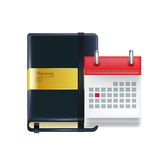 Business agenda with calendar isolated Stock Image