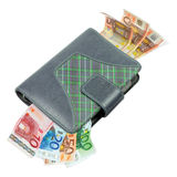 Business agenda with euro money Royalty Free Stock Image
