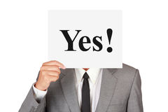 Business agree expression concept say yes Stock Photos