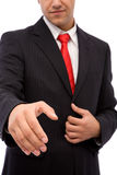 Business agreement. Concept with young businessman ready to handshake Royalty Free Stock Photo