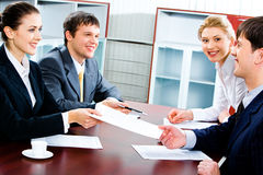 Business agreement Royalty Free Stock Photo