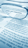Business agreement. Close up a business agreement Royalty Free Stock Photos