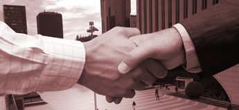 Business agreement in the city Royalty Free Stock Photography