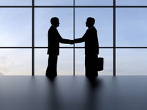 Business agreement - concept with blue sky Royalty Free Stock Photos