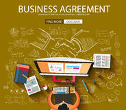 Business Agreement concept wih Doodle design style Royalty Free Stock Photos