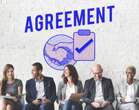 Business Agreement Deal Handshake Graphic Concept Stock Image