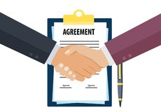 Business agreement handshake stock illustration