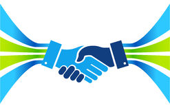 Business agreement handshake lines concept Royalty Free Stock Image