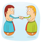 Business agreement. Illustration of a business agreement concept. Available in vector eps 8 file Royalty Free Stock Image