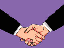 Business agreement. Illustration of hand shake business agreement Royalty Free Stock Images