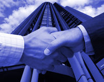 Business agreement in Madrid Stock Image
