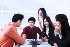 Business agreement meeting at office Royalty Free Stock Photo