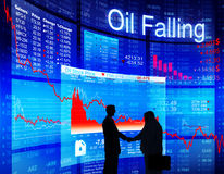 Business Agreement About Oil Falling Royalty Free Stock Photos
