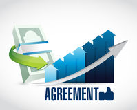 Business agreement sign illustration. Design graphic over white Stock Image
