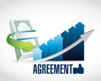 Business agreement sign illustration Stock Image