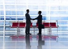 Business Agreement. Two men in a business agreement royalty free stock images