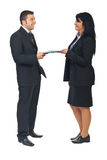Business agreement between two people Stock Photos