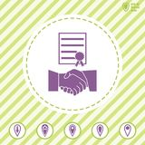 Business Agreement  vector icon with handshake. Business Agreement vector icon with handshake. Illustration on a Flat design style Royalty Free Stock Image