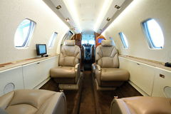 Business aircraft cabin Royalty Free Stock Photography