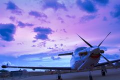 Business airplane Royalty Free Stock Photo