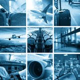 Business airport collage Royalty Free Stock Photos