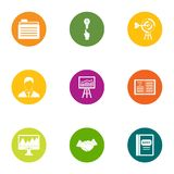 Business allocate icons set, flat style. Business allocate icons set. Flat set of 9 business allocate vector icons for web isolated on white background Stock Photography