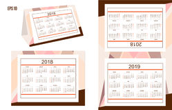 Business american desk calendar year 2018, 2019 Stock Images