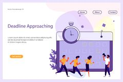 Business Analisys Website template royalty free illustration