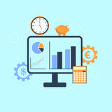 Business Analysis and accounting concept Stock Photos