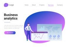Business Analysis Analytics Flat style vector land stock illustration