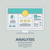 Business analysis background with computer devices Stock Photo
