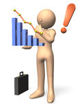 Business analysis. Businessman has a business analysis Royalty Free Stock Images