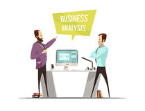 Business Analysis Cartoon Style Design Royalty Free Stock Images