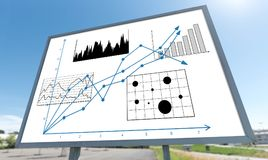Business analysis concept on a billboard. Business analysis concept drawn on a billboard Stock Photos