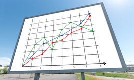 Business analysis concept on a billboard. Business analysis concept drawn on a billboard Royalty Free Stock Photos