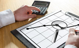 Business analysis concept on a clipboard Royalty Free Stock Photography