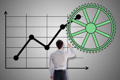 Business analysis concept drawn by a businessman Royalty Free Stock Images