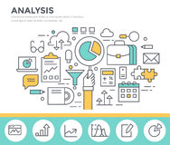 Business analysis concept illustration. Royalty Free Stock Images